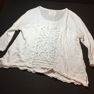 Meadow Rue Tayrona Lace Cream Blouse M